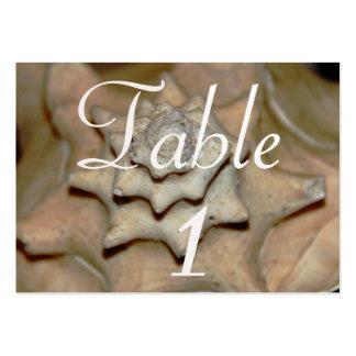 tarjeta del lugar de la tabla del seashell tarjeta de negocio