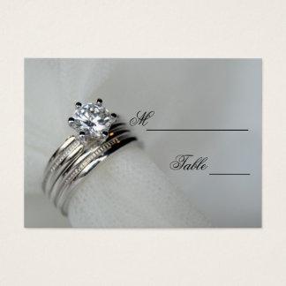 Tarjeta del lugar de los anillos de bodas