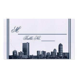 Tarjeta del lugar del boda de la marina de guerra tarjetas de visita