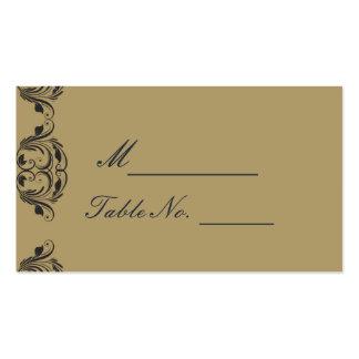 Tarjeta del lugar del boda de la mascarada de la tarjetas de visita