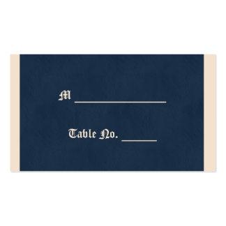 Tarjeta del lugar del boda del blanco puro y de tarjetas de visita