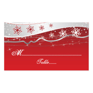 Tarjeta del lugar del boda del copo de nieve del tarjetas de visita