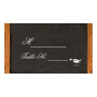 Tarjeta del lugar del boda del pájaro del amor de tarjetas de visita
