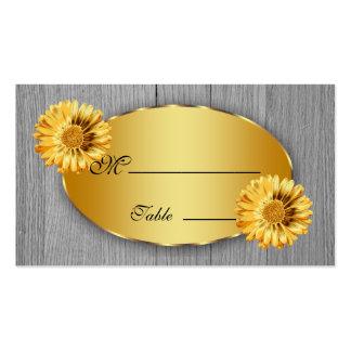 Tarjeta del lugar del oro de la margarita del tarjetas de visita