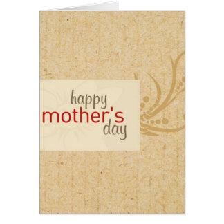 tarjeta del madre-día