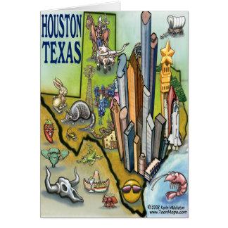 Tarjeta del mapa de Houston TEJAS