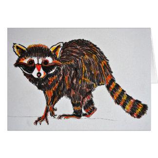 tarjeta del mapache