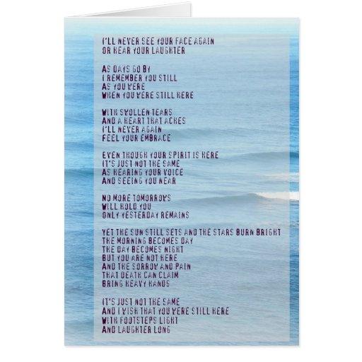 Tarjeta del mar de Hawaii del poema de la condolen
