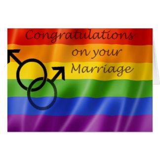 Tarjeta del matrimonio homosexual