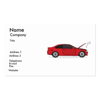 Tarjeta del mecánico tarjetas de visita