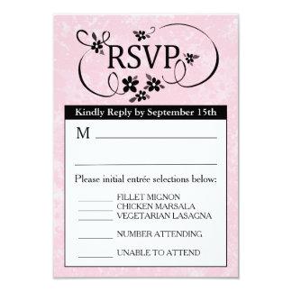 tarjeta del menú de 3.5x5 RSVP - floral blanco y Invitación 8,9 X 12,7 Cm