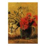 tarjeta del menú de la cena, invitación 12,7 x 17,8 cm