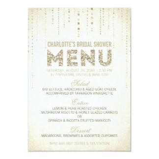 Tarjeta del menú de la mirada del brillo anuncio personalizado