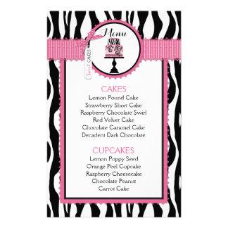 Tarjeta del menú de la panadería del estampado de folleto 14 x 21,6 cm