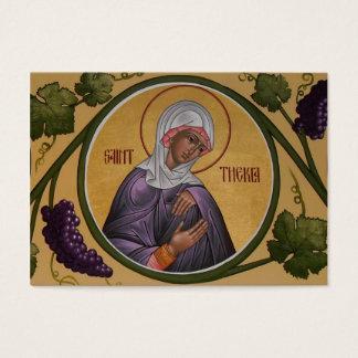 Tarjeta del Mini-Rezo de Thekla del santo