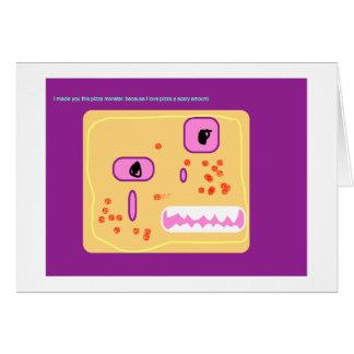 tarjeta del monstruo de la pizza