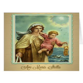 Tarjeta del monte Carmelo Maris Stella del Virgen