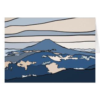 Tarjeta del monte Fuji