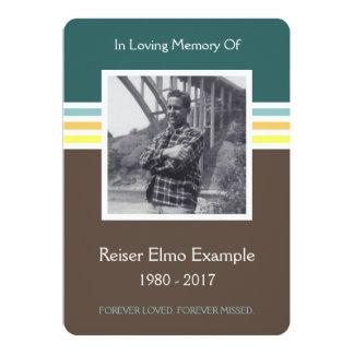 tarjeta del monumento de la MOD Invitación 12,7 X 17,8 Cm
