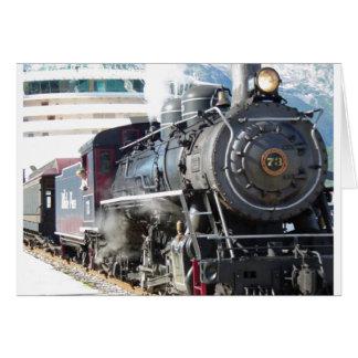 Tarjeta del motor de vapor del ferrocarril