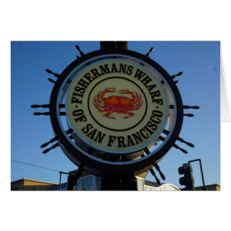 Tarjeta del muelle de San Francisco Fishermans