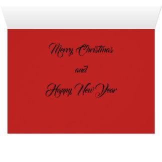 Tarjeta del navidad del amor de la alegría de la