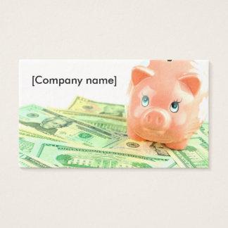 Tarjeta del negocio bancario