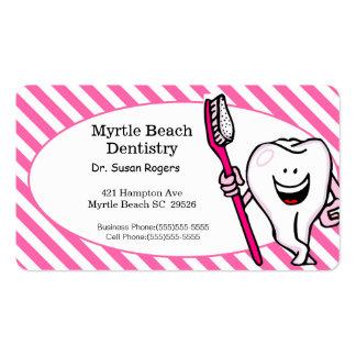 Tarjeta del negocio y de la cita del dentista tarjetas de visita
