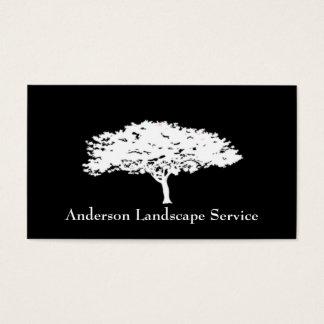 Tarjeta del negro del retiro del árbol del paisaje