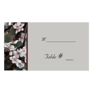 tarjeta del número de la tabla con la dirección de tarjetas de negocios