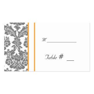 tarjeta del número de la tabla con la dirección de plantillas de tarjeta de negocio