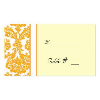 tarjeta del número de la tabla con la dirección de tarjetas personales