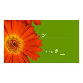 tarjeta del número de la tabla con la dirección y plantilla de tarjeta de visita