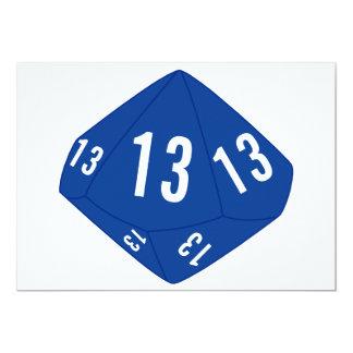 Tarjeta del número de la tabla D10 (esquema azul