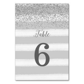Tarjeta del número de la tabla de la bodas de