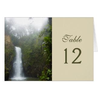 Tarjeta del número de la tabla de la cascada