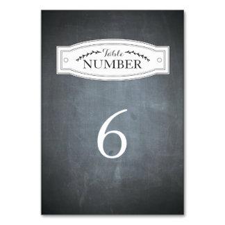 Tarjeta del número de la tabla de la insignia de