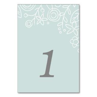 Tarjeta del número de la tabla de la plantación -  tarjeta