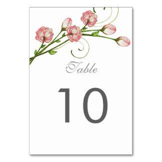 Tarjeta del número de la tabla de los rosas del