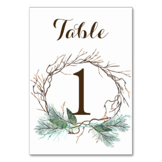 Tarjeta del número de la tabla del boda de la