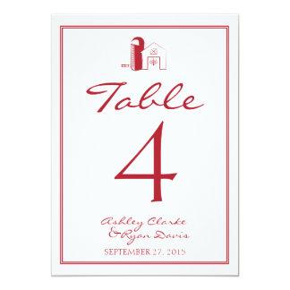 Tarjeta del número de la TABLA del boda del Invitación 12,7 X 17,8 Cm