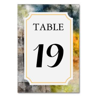 Tarjeta Tarjeta del número de la tabla del boda del viñedo