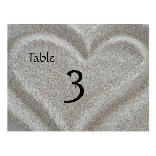 Tarjeta del número de la tabla del corazón de la