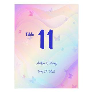 Tarjeta del número de la tabla del verano tarjetas postales