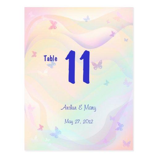 Tarjeta del número de la tabla del verano tarjeta postal