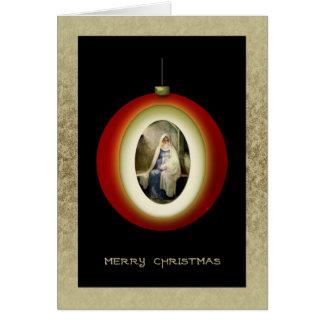Tarjeta del ornamento del navidad de Madonna