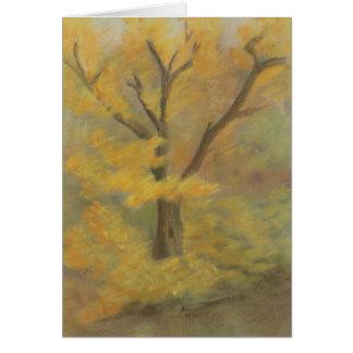 Tarjeta del oro del otoño