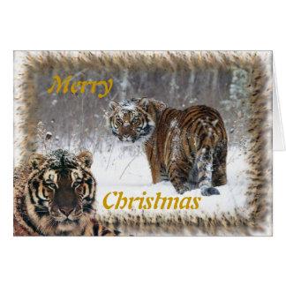 Tarjeta del paisaje de las Felices Navidad