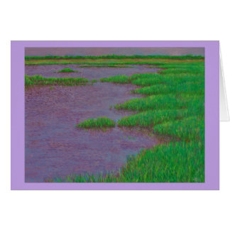 Tarjeta del pantano del mar