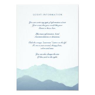 Tarjeta del parte movible de la cordillera invitación 11,4 x 15,8 cm